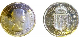 Elizabeth II, Proof Half-crown, 1953