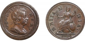 George I, Copper Farthing, 1724