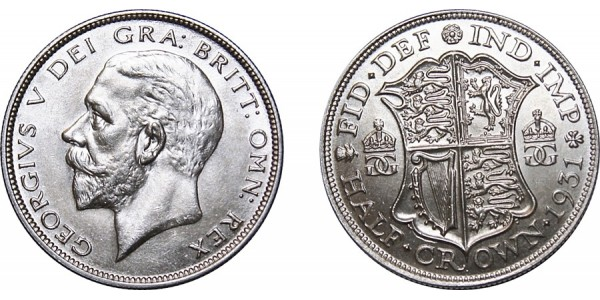 George V, Silver Half-Crown, 1931