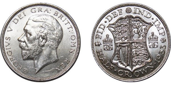 George V, Silver Half-crown, 1933