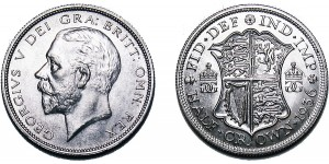 George V, Silver Half-Crown, 1936