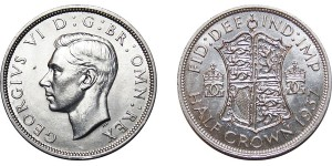 George VI, Silver Half-crown, 1937
