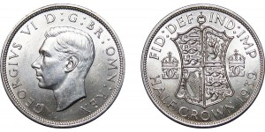 George VI, Silver Half-crown, 1939