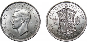 George VI, Silver Half-crown, 1940
