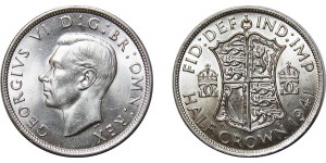 George VI, Silver Half-crown, 1941