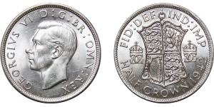 George VI, Silver Half-crown, 1942