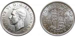 George VI, Silver Half-crown, 1943