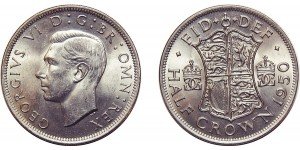 George VI, Silver Half-crown, 1950