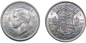 George VI, Silver Half-crown, 1951