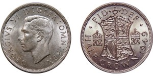 George VI, Silver Half-crown, 1949
