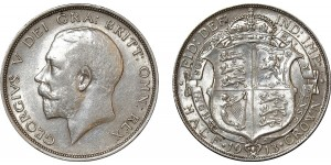 George V, Silver Half-crown, 1913.