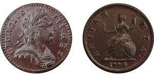 George III, Copper Farthing, 1774