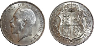 George V, Silver Half-crown, 1925