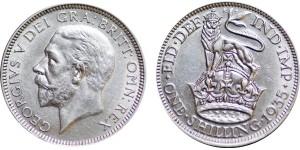 George V, Silver Shilling, 1935