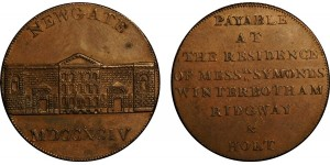 Middlesex. Newgate. Halfpenny Token. 1794. D&H 393.