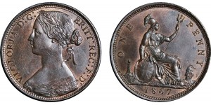 Victoria, Bronze Penny, 1867