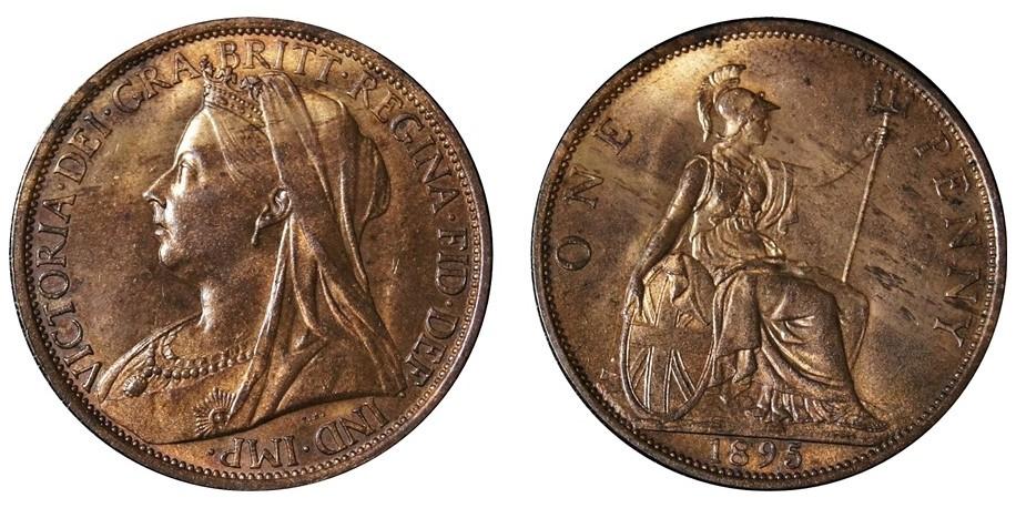 Victoria, Bronze Penny, 1893