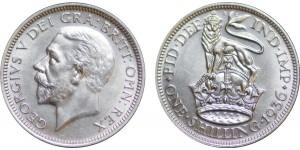George V, Silver Shilling, 1936