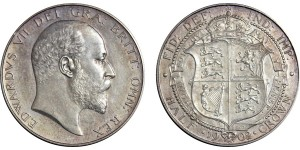 Edward VII, Silver Matt Proof Half-crown, 1902