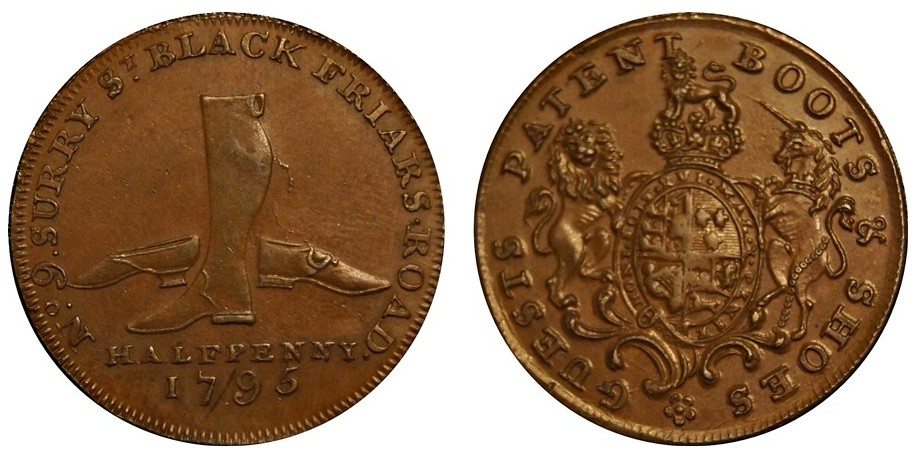 Middlesex. Guests. Halfpenny Token. 1795. D&H 308B.
