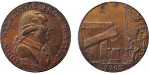 Warwickshire. Wilkinson's Counterfeit. Halfpenny Token.  1793. D&H 395C