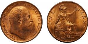 Edward VII, Bronze Penny, 1910