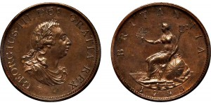 George III, Copper Halfpenny, 1799.