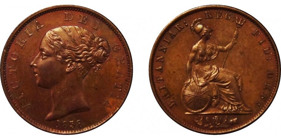 Victoria, Copper Halfpenny, 1838.