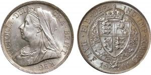Victoria, Silver Half-crown 1900.