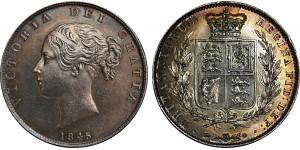 Victoria, Silver Half-crown, 1845/3