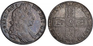 William III, Silver Half-crown, Decimo. 1698.
