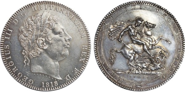 George III, Silver Crown, 1818. LIX