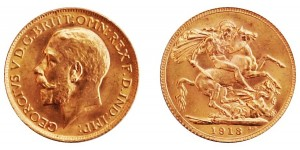George V, Gold Sovereign, 1913