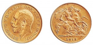 George V, Gold Half Sovereign, 1913