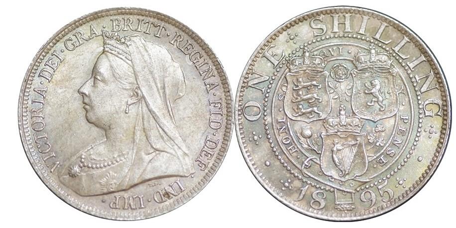 Victoria, Silver Shilling, 1895