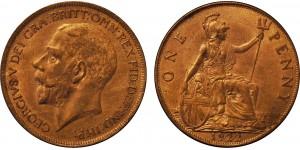 George V, Bronze Penny, 1922