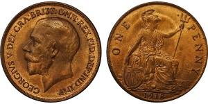 George V, Bronze Penny, 1918