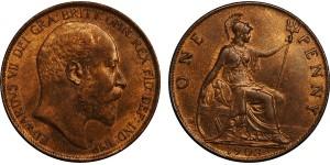 Edward VII, Bronze Penny, 1903