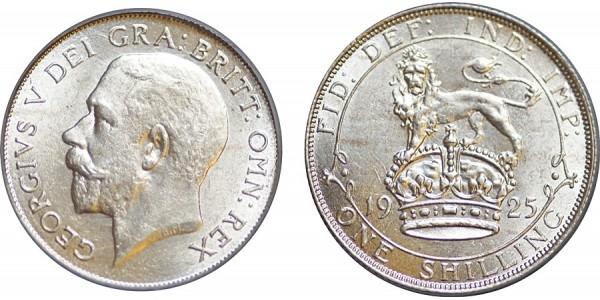 George V, Silver Shilling, 1925