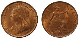 Victoria, Bronze Penny, 1895