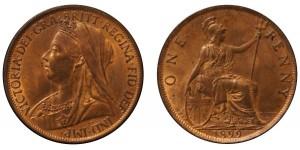 Victoria, Bronze Penny, 1899