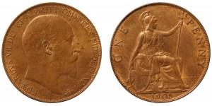 Edward VII, Bronze Penny, 1905