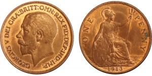 George V, Bronze Penny, 1913