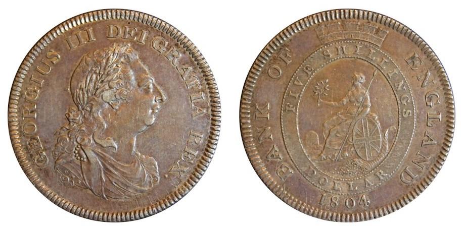 George III, BOE Silver Dollar, 1804