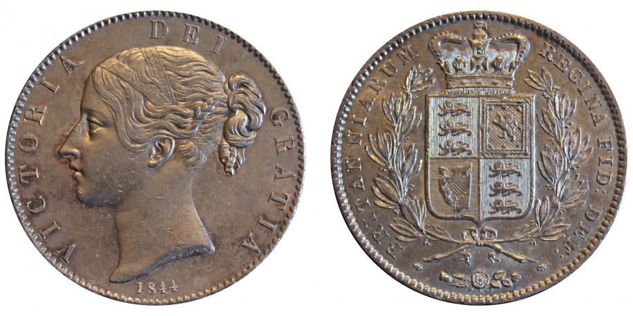 Victoria, Silver Crown, 1844
