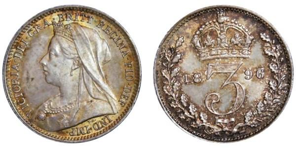 Victoria. Silver Groat. 1890