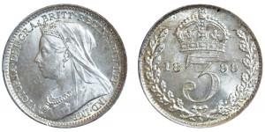 Victoria. Silver Threepence. 1899