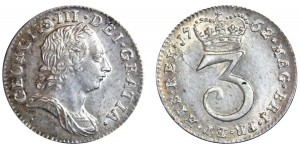 George III. Maundy Threepence. 1762.
