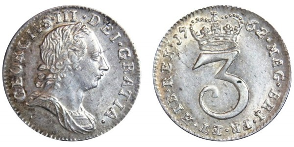 George III. Maundy Threepence. 1762.