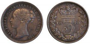 Victoria. Silver Threepence. 1870.